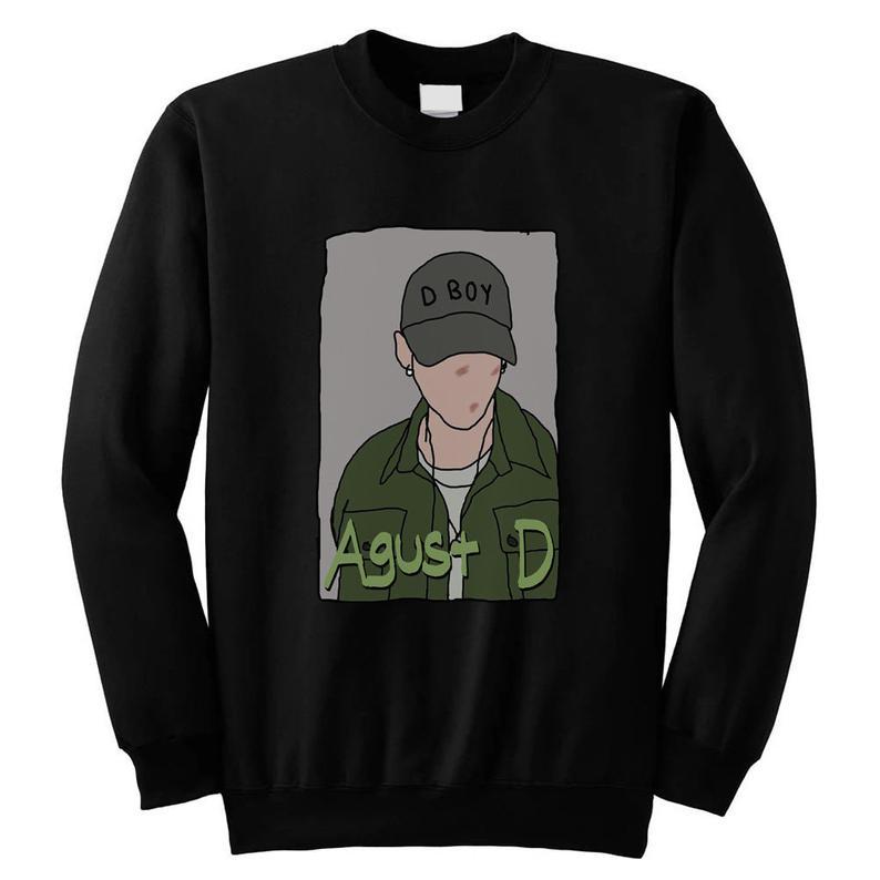 Agust D Suga BTS Bangtan Boys KPOP Style Unisex Men Women Sweatshirt
