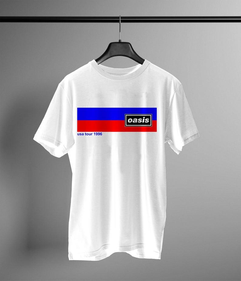 1996 Oasis Britpop Tour t shirt