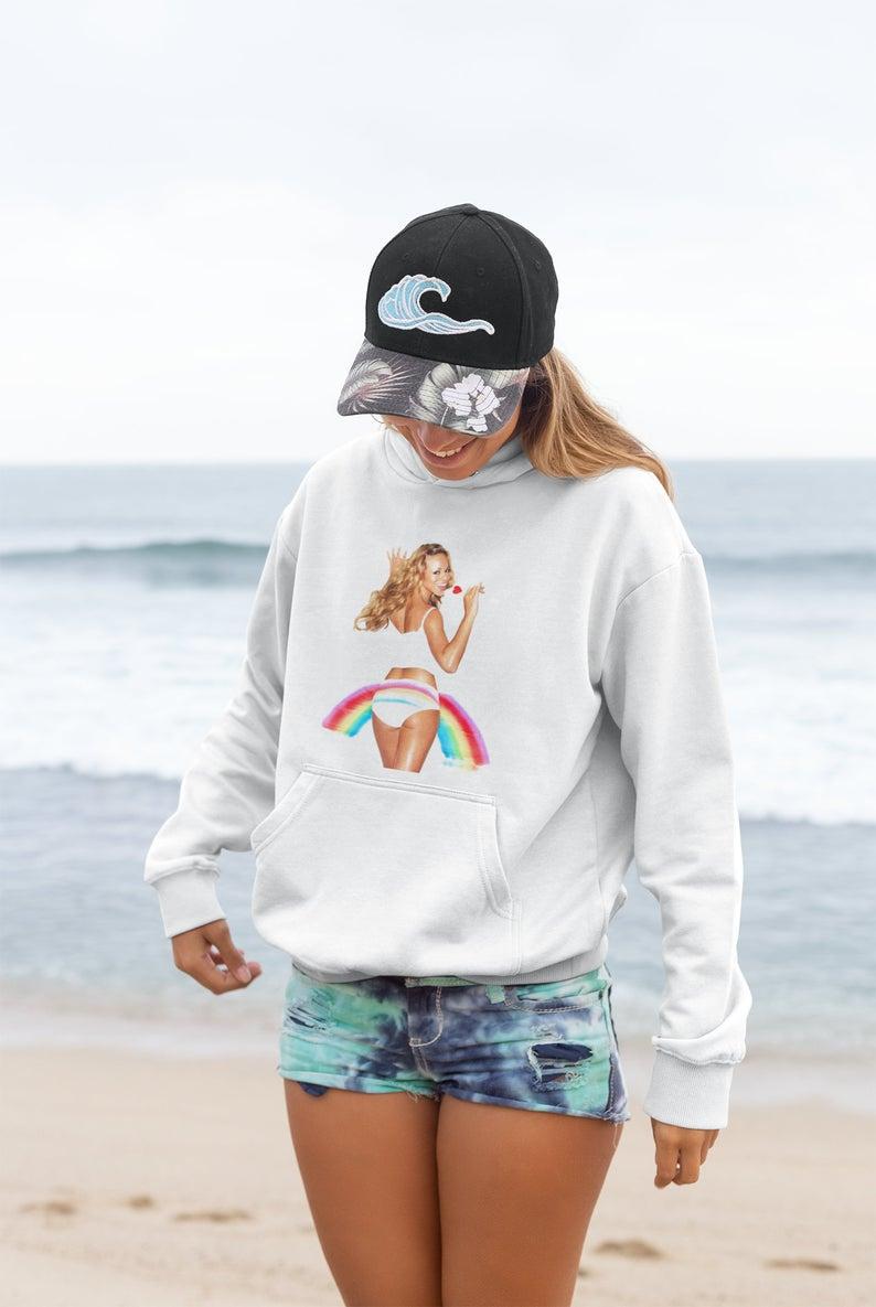 mariah carey rainbow hoodie