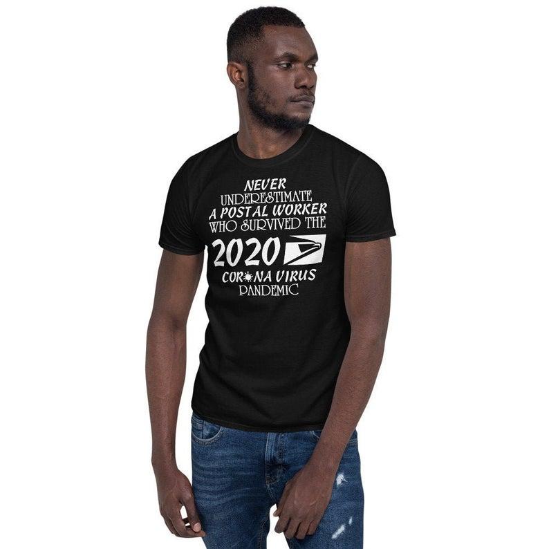 USPS Postal Worker Shirt Funny 19 covid Unisex T-Shirt