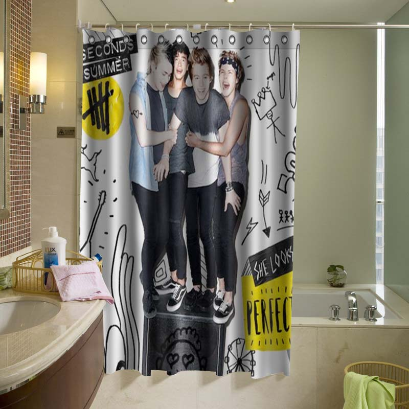 5 Second of Summer 5SOS 009 Shower Curtain