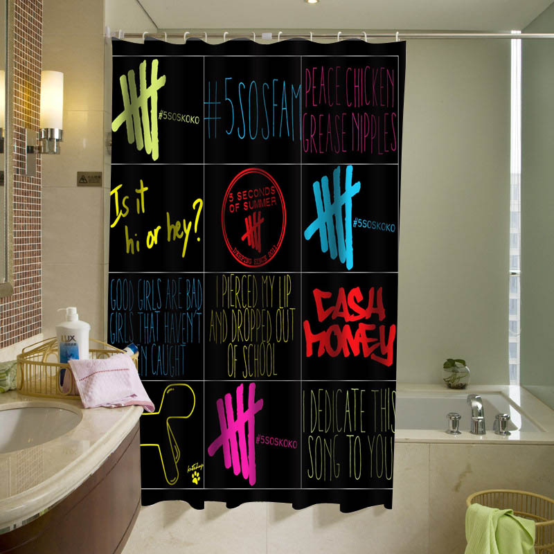 5 Seconds Of Summer 5 sos Shower Curtain