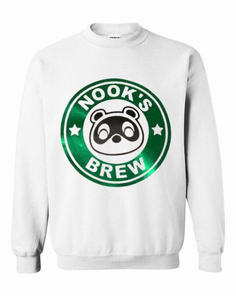 ACNH Foil Nook's Brew Sweatshirt